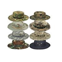 francotirador libre al por mayor-Ejército de EE. UU. BONNIE SOMBREROS Sombrero de ala de ala redonda James Super Light Sniper Sombrero de pesca 65% poliéster 35% algodón envío gratis
