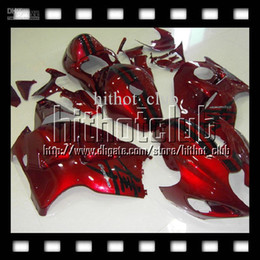 2019 hayabusa negro carenados rojos 7gifts + Tank para SUZUKI Hayabusa GSXR1300 GSX-R1300 08 09 10 11 12 12 GSX R1300 Rojo oscuro negro # 451527 GSXR 1300 2008-2012 GSXR 1300 Carenado hayabusa negro carenados rojos baratos