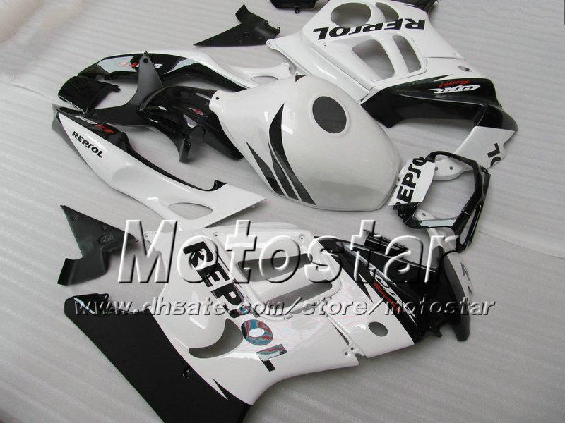 Personaliseer GRATIS voor HONDA CBR600 F3 VERICHTINGEN SET CBR 600 F3 1997 1998 CBR 600F3 ABS BUIZEN 97 98 Glanzend Wit Black Repsol