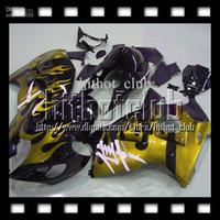 Wholesale Hayabusa Yellow - 7gifts+Tank For SUZUKI Hayabusa GSXR1300 08-12 Yellow flames GSX-R1300 GSX R1300 08 09 10 11 12 #451565 GSXR 1300 2008-2012 Fairing