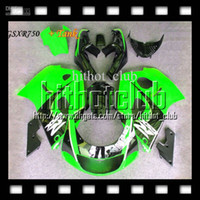 Wholesale 1998 Suzuki Gsxr Custom Fairing - 7gifts Fit SUZUKI +Tank GSX-R750 96 Green black 97 98 99 00 Q2A58 Custom GSXR 750 1996 1997 1998 98 1999 2000 GSXR750 ! GSX R750 Fairing