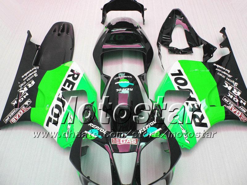 High Grade für Honda VTR 1000 R Körperverletzungen 1000R VTR1000 RVT1000 SP1 RC51 FAIRNG KIT 2000-2005 GRÜN BLACK REPSOL Motorcycle-Teile