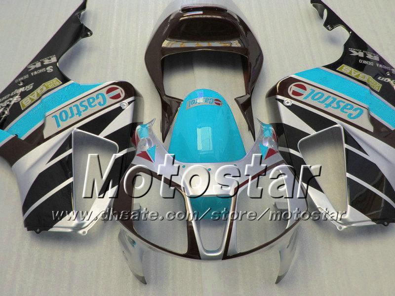 High grade for honda VTR 1000 R body fairings 1000R VTR1000 RVT1000 SP1 RC51 fairng kit 2000-2005 glossy wter blue black with 7gifts