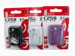 Wholesale Mmc Xd Sd - Hot sales 5 in 1 multi function USB 2.0 memory card reader C258 for micro SD  MMC  MS  XD  CF 10pcs MOQ.