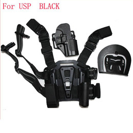 Wholesale Thigh Pouches - For Compact USP Type Pistol Tactical Puttee Thigh Belt Drop Leg Holster Pouch Free Shipping