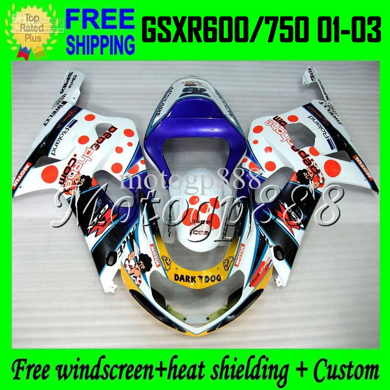 Windscreen Suzuki 600 GSX-R 600 GSXR600 01 02 03 CLEAR ACRYLIC USA SHIP