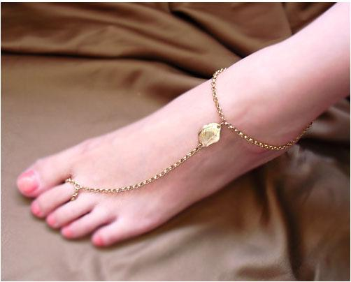 Wedding Anklets Foot Jewelry Barefoot Sandals Stretch O Chains Sand