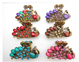 4cm vintage hair Clamps clasps claw clips Jewelry alloy rhinestone crown hair claw hair clip hair accessory mixed 10pcs lot #3021