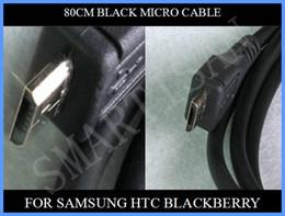 transfert de câble Promotion Nouveau câble de transfert câble ligne données USB 80cm câble pour Micro 5 broches Nokia HTC Samsung Motorola Blackberry 500pcs / lot