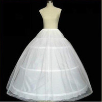 Wholesale New Wedding Ball Gown - New Arrival Petticoat Crinoline 3-Hoop-1 Layer White Wedding Bridal dresses Petticoat PETTICOAT CRINOLINE Wedding Accessories 00001