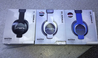 Wholesale Sol Republic Headphones Master Tracks - 2013 New SOL REPUBLIC MASTER TRACKS OVER-EAR HEADPHONES GUNMETAL MIC + MUSIC CONTROL BLACK WHITE AND BLUE COLORS 5PCS