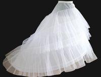 юбки для продажи оптовых-Новые Белый трейлинг юбки кринолин нижняя юбка 3-слои свадебные аксессуары женские леди скользит для формальной партии вечерние выпускного вечера топ продажа