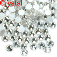 Wholesale Nail Art Rhinestone Ss5 - WHOLESALE 1440pcs High Quality Crystal FlatBack Non-Hot Fix Rhinestones Nail Art SS4 SS5 SS6 SS8 SS10 SS12 SS16 SS20