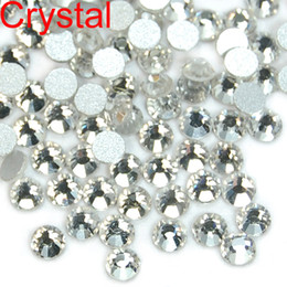 Wholesale High Art Nail - WHOLESALE 1440pcs High Quality Crystal FlatBack Non-Hot Fix Rhinestones Nail Art SS4 SS5 SS6 SS8 SS10 SS12 SS16 SS20