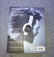 Wholesale Dj Headphones Black High Performance - Retail - DHL Free shipping Sol Republic High Definition Headphone With Mic DJ Headset With High Performance Earphone