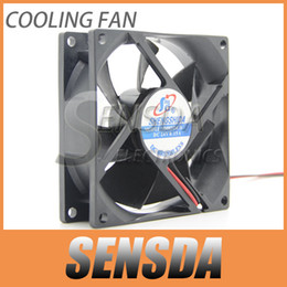 Wholesale Dc Fan Cooler Wire - Free Shippping 8cm 80mm 8025 80*80*25 80X80X25 mm Sleeve DC 24V 0.15A case cooling fan 2-wire 2pin quiet low noise