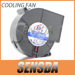 Wholesale Dc Brushless Fan Blower 12v - Free Shipping 9733 9cm DC 12V 0.85A Strong wind 2 Wire Brushless DC Cooling Blower Fan Turbo blower