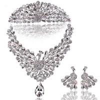 Wholesale Swarovski Crystals Tiara - Wedding Super Sparkling Tiara w Swarovski Crystal Tiara+ Necklace + Earring   Excellent wedding dress store : romanticweddinggown