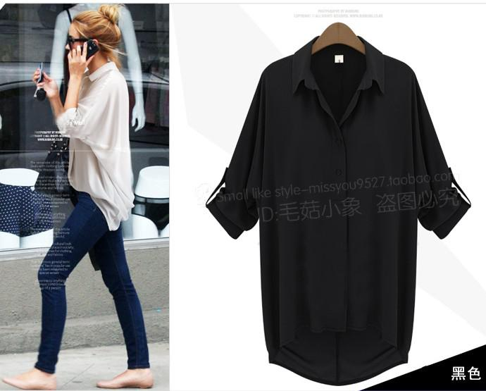 Autumn New Shirts Women's Long Sleeve Lapel Easy Joker Chiffon Shirts