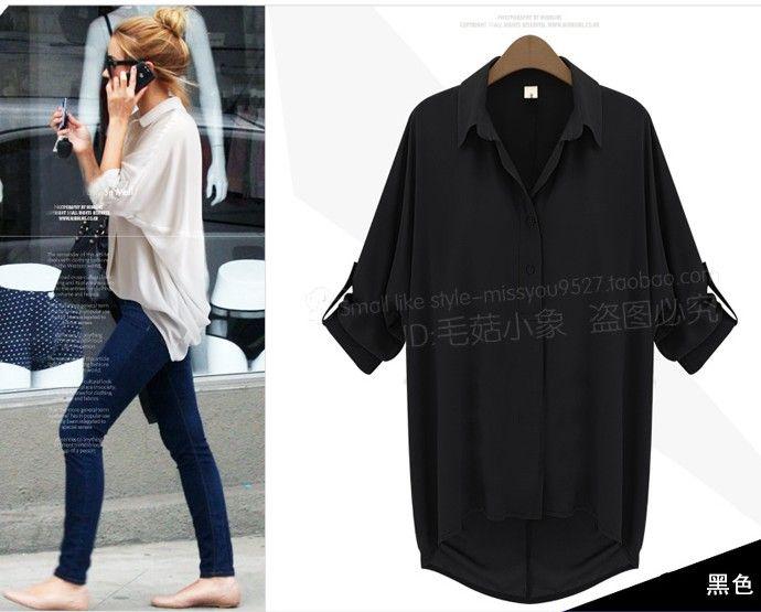 Осень новые рубашки женские с длинным рукавом нагрудные Легкая Джокер шифон рубашки