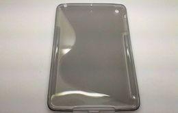 Wholesale Ipad S Line - (5sets+Free shipping)S-line Soft TPU Shell Back Skin Case for Apple Ipad Mini &Screen Protector Film