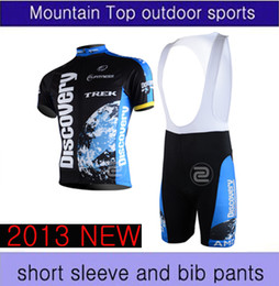 Wholesale Discovery Cycling Jersey Bib Shorts - Wholesale 2013 new arrive discovery black cycling set Short Sleeve cycling Jersey and BIB short Pants XS-4XL drop shipping