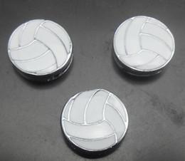 Canada 100pcs / lot charme de glissière de sport de volley-ball de 8mm fit pour 8MM diy bracelet en cuir bracelet bijoux de mode supplier volleyball leather Offre