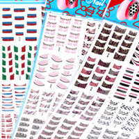 Nail Supplies Nail French Sticker Assorted Sticker 6 set / lotto 3D Nails Sticker French Tip Adesivi per unghie French Tip Stickers