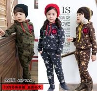 Wholesale Girl Sweater Star - Wholesale - Children's suits suits Boy girls star star hooded sweater+ pants 2pcs set 5d l