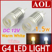 Wholesale Led G4 Landscape Bulbs - G4 1 LED lights bulb DC 12V 1.5W high power lighting warm white and white lamp replace Halogen light Landscape Chandelier