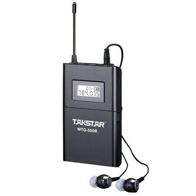 Hochwertiges Takstar WTG-500 UHF PLL Drahtloses Führungssystem für das Sprachführungssystem, das Lernkopfhörer lehrt Sender + Empfänger + MIC + Kopfhörer geben Schiff frei