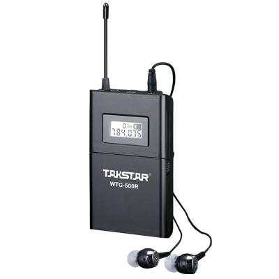 Top calidad Takstar WTG-500 UHF PLL sistema de guía de viaje inalámbrico dispositivo de voz enseñanza auriculares transmisor + receptor + MIC + auricular envío gratis