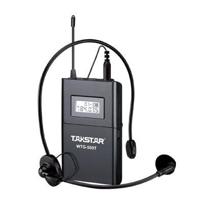 Takstar WTG-500 Sistema de guia turístico sem fio Frequência UHF 6 canais selecionáveis Faixa de operação de 100 m 1 Transmissor + 20 Receptores