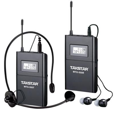 best selling Top Quality Takstar WTG-500 UHF PLL Wireless tour guide system voice device teaching earphones Transmitter+Receiver+MIC+earphone free ship