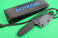 Wholesale China Hunting Knifes - Made in China SCHRADE SCHF16 F16 Fixed Blade Neck knife 3CR13MOV Blade G10 Handle Reverse Tanto Hunting camping knife knives Kydex Sheath