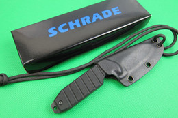 Wholesale Camp China - Made in China SCHRADE SCHF16 F16 Fixed Blade Neck knife 3CR13MOV Blade G10 Handle Reverse Tanto Hunting camping knife knives Kydex Sheath