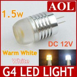 Wholesale Led Light Bulbs Housing - High Quality G4 Led High Power 1.5W AC DC 12V LED Lamp Bulb Light 320 degrees White and Warm White led house Lighting