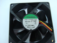 Wholesale 12v Server Fans - Free shipping SUNON KD1209PTS2 9225 12V 1.7W 3wire Server Inverter PC Case Cooling Fan
