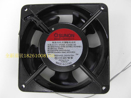 Wholesale Double Exhaust - SUNON 12038 DP200A 2123XBL fan exhaust fan 220V 12CM 1238 12038 double ball kitchen cooling fan