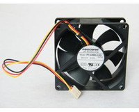 Wholesale Dual Cpu Computer - Foxconn 8025 PVA080G12Q 12V 0.65A 3Wire For 775 CPU Cooler Fan Server Inverter Radiator DC Brushless Fan