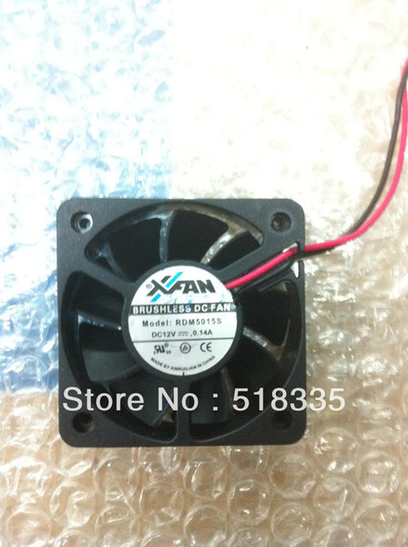 Freies Verschiffen! Xinruilian RDM5015S Server-Quadrat-Ventilator 12V 0.14A 2wire 2pin Verbindungshülse-Serverinverter-Kühlventilator