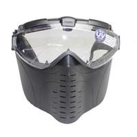 vollgesichts-paintball-maske großhandel-Heißer Brand New Marui Anti-Fog Elektrische Lüfter Belüftete Goggle Airsoft Paintball Vollgesichtsmaske Kostenloser Versand