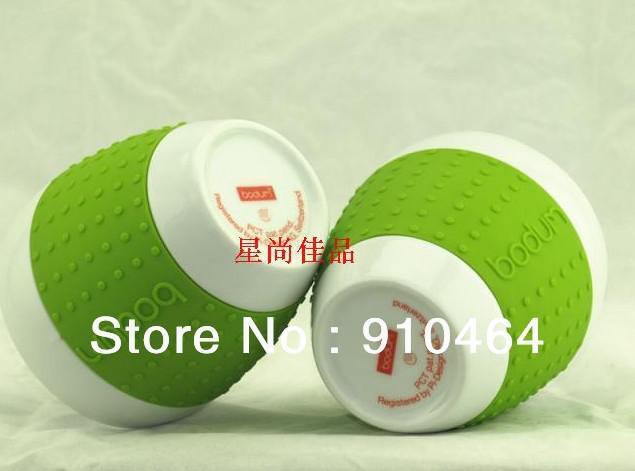 Good 250ML Bodum Pavina 8 Ounce Porcelain Mugs Set Of 8 Colour Silicone  Grip,Ceramic Couple Elegant Coffee Mugs Cup /mug, Free Shipping Nice Ideas