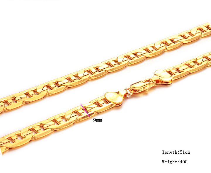 Fabrik direkt 18KGP Halskette 51cm 40g Ketten Halsketten