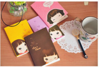Wholesale Smiley Diary - Free Shipping New cute smiley girl Notebook Linear Letters diary book Notepad Note pad Memo Paper Pa Fashion Gift