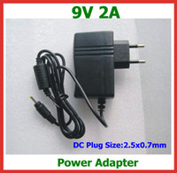 Wholesale Aoson Tablets - 9V 2A 2.5mm 2.5x0.7mm Jack Wall Home Charger for Tablet PC Voyo A1 Mini Cube iWork8 Aoson M19 M12 Pipo M2 M3 Chuwi V3 Teclast Tbook 10