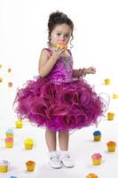Wholesale Sz Girls Dress Purple - Lovely Purple Organza Flower Girl Dresses Girls' Formal Dresses Pageant Dress Custom SZ 2 4 6 8 10 12 FD8140169