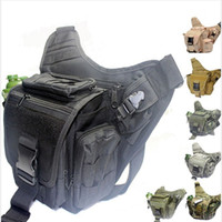 Wholesale Tactical Duffel - Brand New Tactical Airsoft Molle Messenger Bags Backpack Outdoor Camping Travel Hiking Mountaineering Camera Bag Free Shipping