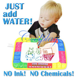 Wholesale Aquadoodle Drawing - 29X19cm CP1366 Miracle drawing board 4 color Water Drawing Toys Mat Aquadoodle Mat&1 Magic Pen  learning Water Drawing Doodle Mat