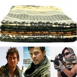 Wholesale Scarf Purpose - New US Shemagh Arab Tactical Scarf face veil hunting airsoft ski multi purpose scrim Hiking Camping scarves 110*110cm